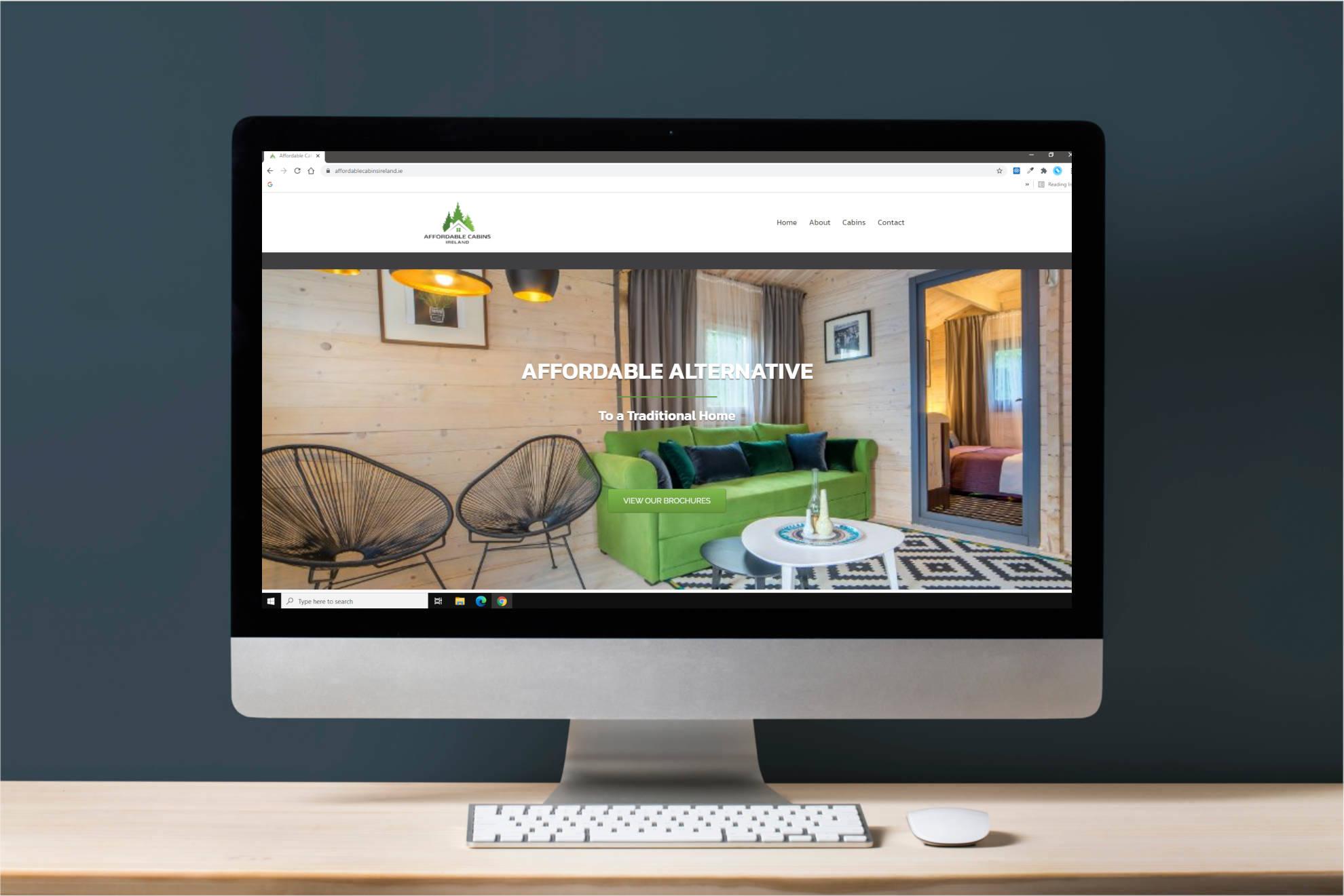 Affordable Cabins site Applejack Marketing