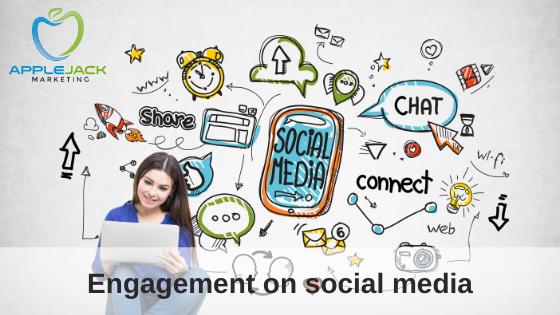 engagement on social media applejack marketing